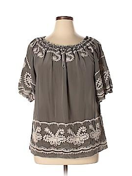 Sundance Short Sleeve Silk Top Size L