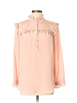 Amanda Uprichard Long Sleeve Silk Top Size L