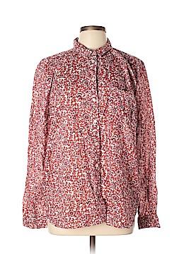 Ann Taylor LOFT Long Sleeve Button-Down Shirt Size XL
