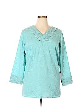Ulla Popken 3/4 Sleeve Blouse Size 16 - 18