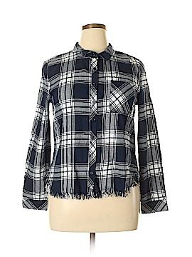 Confess Long Sleeve Button-Down Shirt Size XL