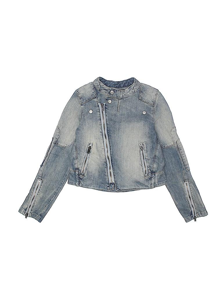 3911681febd276 Ralph Lauren 100% Cotton Solid Blue Denim Jacket Size 7 - 80% off ...