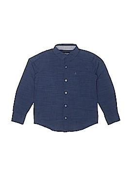 CALVIN KLEIN JEANS Long Sleeve Button-Down Shirt Size 8