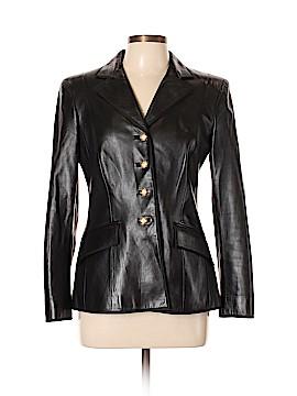 RENA LANGE Leather Jacket Size 12