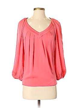 Diane von Furstenberg 3/4 Sleeve Silk Top Size 0