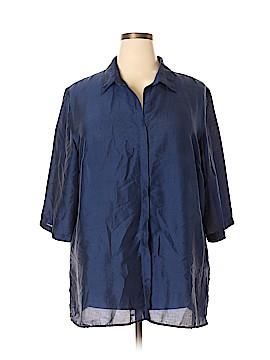 Venezia 3/4 Sleeve Silk Top Size 22 (Plus)