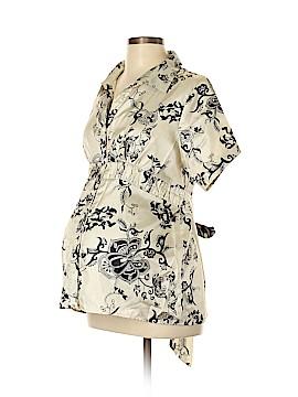 JW Japanese Weekend Short Sleeve Blouse Size XL (Maternity)