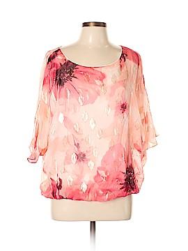 White House Black Market 3/4 Sleeve Silk Top Size L