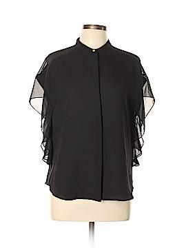 DKNY Short Sleeve Blouse Size L