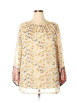 Roz & Ali Long Sleeve Blouse Size 2X (Plus)