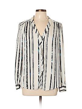 Classiques Entier Long Sleeve Silk Top Size L