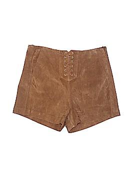 Mango Leather Shorts Size 4