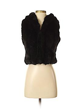 INC International Concepts Faux Fur Vest Size P