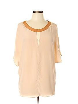 Waverly Grey Short Sleeve Silk Top Size L