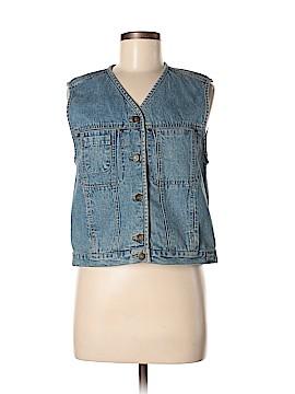Lizwear by Liz Claiborne Denim Vest Size S (Petite)
