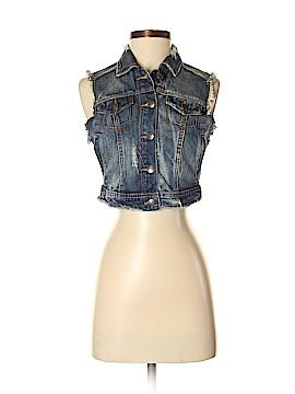 Zara TRF Denim Vest Size S