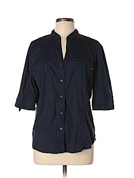 Anne Klein Short Sleeve Button-Down Shirt Size XL