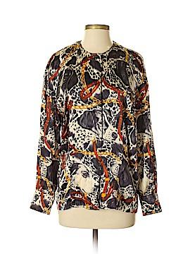 Escada by Margaretha Ley Long Sleeve Silk Top Size 36 (EU)