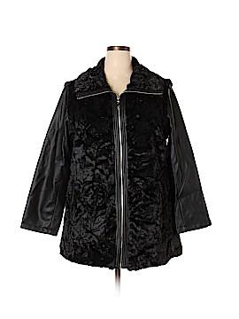Dennis by Dennis Basso Faux Fur Jacket Size 1X (Plus)