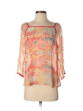 Ella Moss 3/4 Sleeve Silk Top Size M