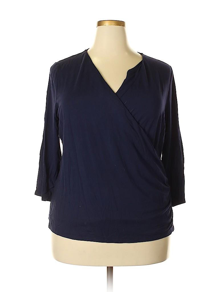 Talbots Women 3/4 Sleeve Top Size 2X (Plus)