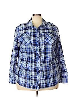 Arizona Jean Company Long Sleeve Button-Down Shirt Size 3X (Plus)