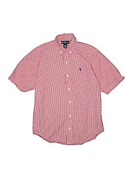 Ralph Lauren Short Sleeve Button-Down Shirt Size 12 - 14