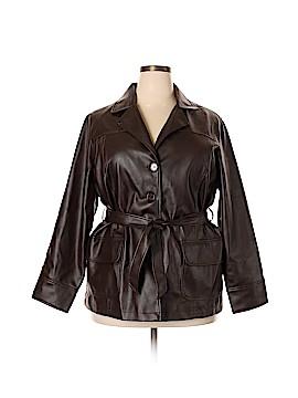 Outer Edge Faux Leather Jacket Size 1X (Plus)