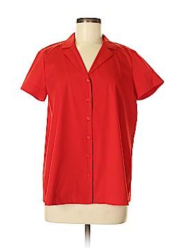 Lafayette 148 New York Short Sleeve Button-Down Shirt Size M