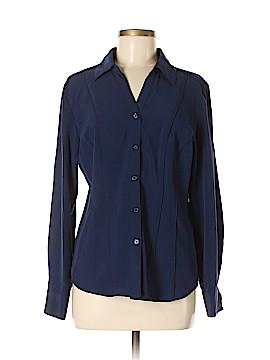 Roz & Ali Long Sleeve Blouse Size M