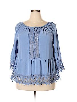 Boohoo Boutique 3/4 Sleeve Blouse Size 22 (Plus)