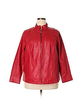 Cj Banks Faux Leather Jacket Size 1X (Plus)