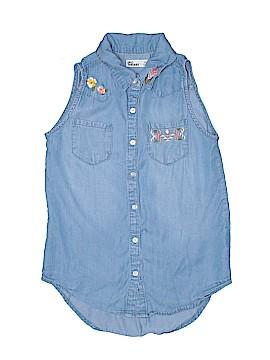 Epic Threads Sleeveless Button-Down Shirt Size M (Kids)