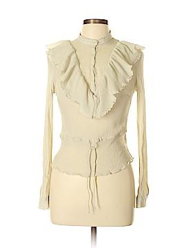 Emanuel by Emanuel Ungaro Long Sleeve Silk Top Size 10