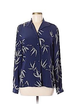 Jacqueline Ferrar Long Sleeve Silk Top Size 6