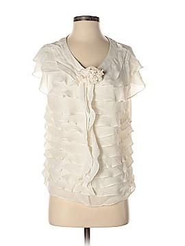 Etcetera Short Sleeve Silk Top Size 12