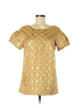 Lela Rose Short Sleeve Silk Top Size 8