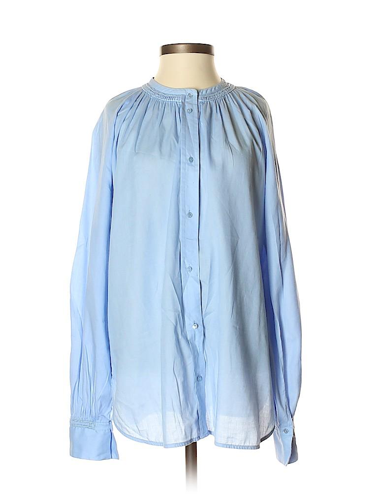 Vince. Women Long Sleeve Button-Down Shirt Size S