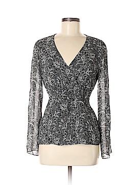 Ann Taylor LOFT Long Sleeve Silk Top Size M