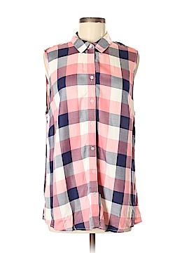 Croft & Barrow Sleeveless Button-Down Shirt Size XL