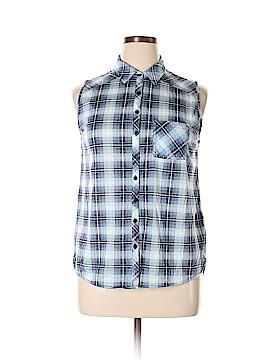 PASSPORTS Sleeveless Button-Down Shirt Size XL