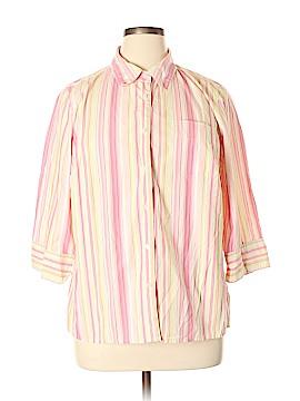 Cherokee 3/4 Sleeve Button-Down Shirt Size 16