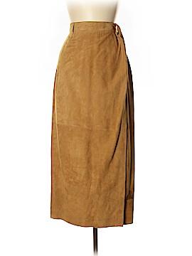 Linda Allard Ellen Tracy Leather Skirt Size 12