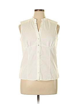 Van Heusen Sleeveless Button-Down Shirt Size L
