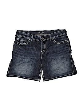 Silver Denim Shorts Size 16