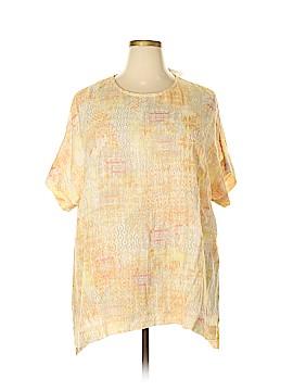 Purejill Short Sleeve Blouse Size 2X (Plus)
