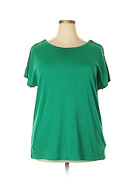 Lauren by Ralph Lauren Short Sleeve Top Size 2X (Plus)
