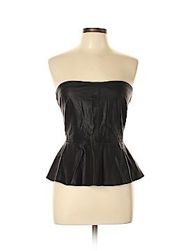 Trafaluc by Zara Faux Leather Top Size L