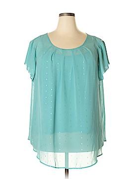 Liz Claiborne Short Sleeve Blouse Size 3X (Plus)