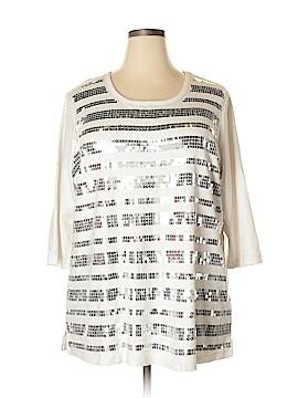 Quacker Factory 3/4 Sleeve Top Size 2X (Plus)